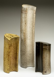 three ceramic core forms forms 15 to 22 inches in height